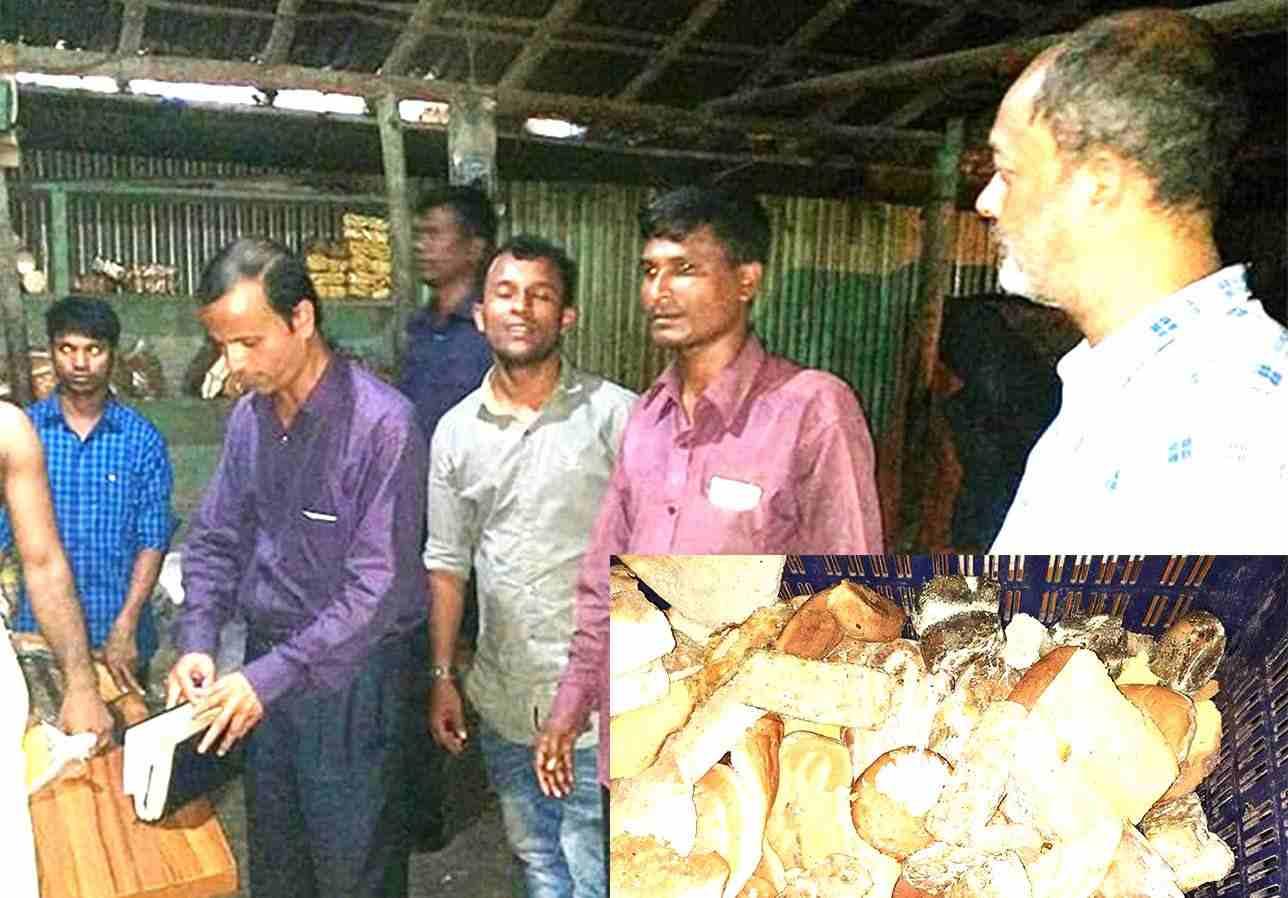 মহেশখালীতে পচা-বাসি উপকরণে খাবার তৈরির দায়ে জরিমানা